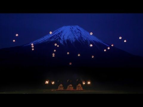 Watch over 20 drones dance in unison with a trio of shamisen players in front ofFuji【Video】 | RocketNews24