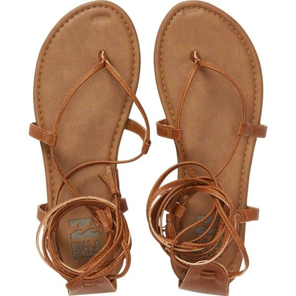 Billabong Women's Around The Sun Sandals (€27) ❤ liked on Polyvore featuring shoes, sandals, desert daze, footwear, lace-up sandals, strappy sandals, wrap around sandals, lace up shoes and gladiator sandals shoes