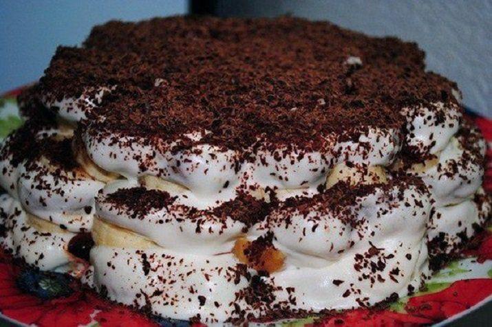 Изумительный торт без выпечки из трех ингредиентов