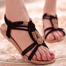 Femmes chaussures sandales confort sandales d'été Flip Flops 2016 mode de haute qualité des sandales plates gladiateurs Sandalias Mujer(China (Mainland))