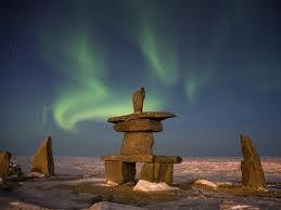 Inukshuk: Northern Southern Lights, Canada Mi, Balance Stones, Aurora Borealis, Northern Lights, Sacred Places, Sky Lights, Borealis Northern Southern, Borealis Manitoba