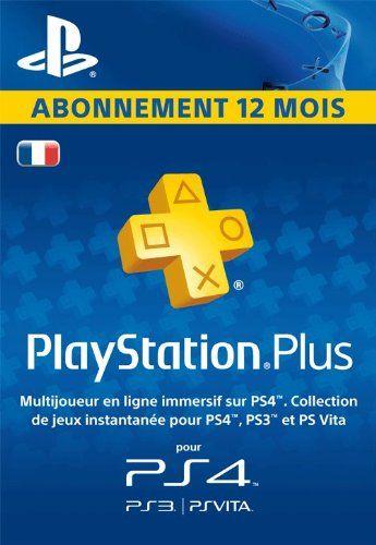 PlayStationPlus : abonnement de 12mois [Code Jeu PSN PS4, PS3, PS Vita – Compte français]