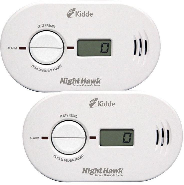 Kidde Nighhawk Battery Powered 2-Pack Digital Display Carbon Monoxide Alarms #Kidde