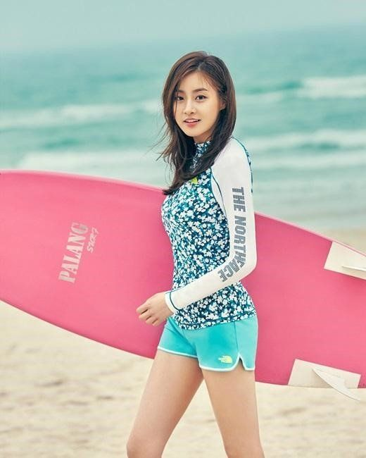 Kang So Ra is a total hottie for the summer collection of 'The North Face'   allkpop.com