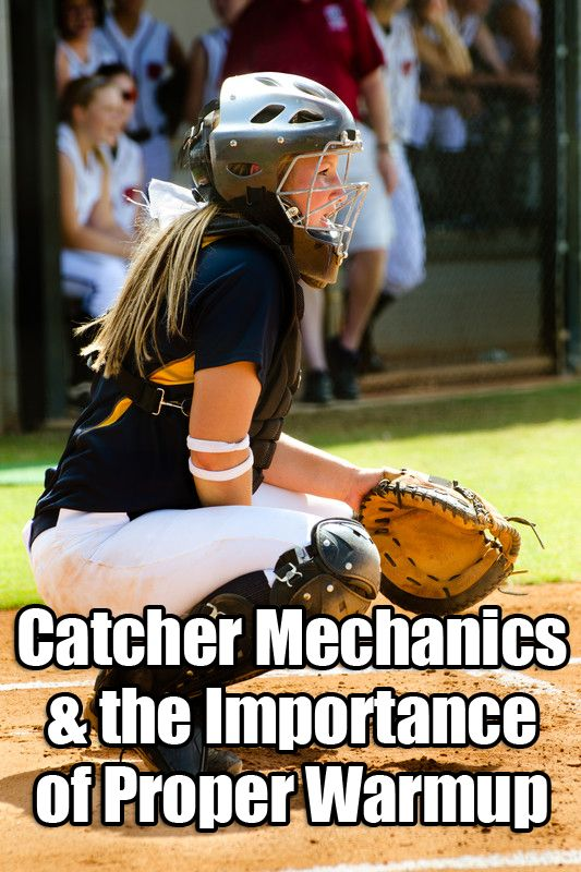 We discuss the importance of proper softball catcher mechanics and warmups, and the difference in throwing mechanics of the different positions.