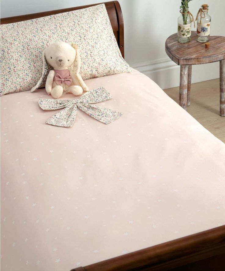 Cot Bed Duvet Cover and Pillow Case Set - Millie & Boris Pink - Bedding…