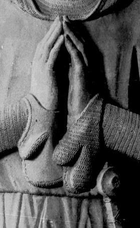 Mail gloves. Grabmal für Graf Eberhard I. von Katzenelnbogen (1245-1311), nach 1311, Grabplatte, Eberbach (Hattenheim), Klosterkirche, Sankt Maria