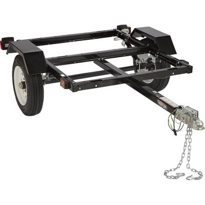 FREE SHIPPING — Ironton Utility Trailer Kit with 40in. x 48in. Bed — 1060-Lb. Capacity