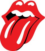 the infamous tongue and lips logo