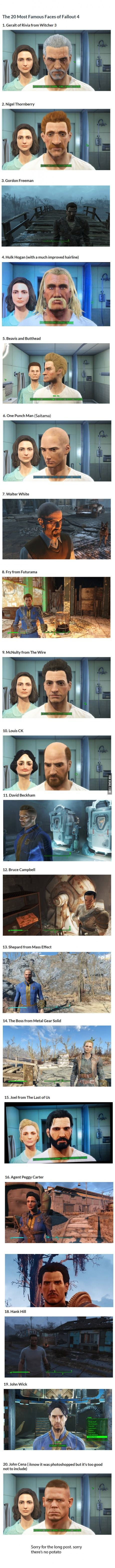 The 20 Most Famous Faces of Fallout 4