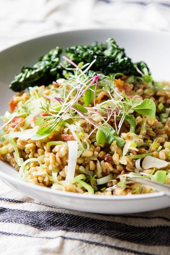 Warm Farro Salad with Roasted Veggies | A fast and effortless meal ...