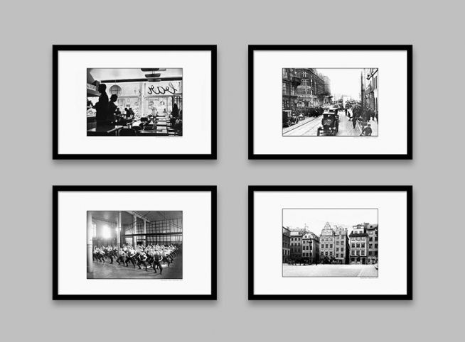 Posters med gamla fotografier på Stockholm. Tavlor och prints som är snygga att ha tillsammans. Stort utbud av affischer med gamla och nya fotografier.