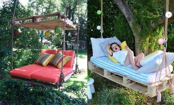 Schön faulenzen in diesem Sommer mit diesen herrlichen Selbstmach-Loungebetten! Nummer 6 ist prächtig! - DIY Bastelideen