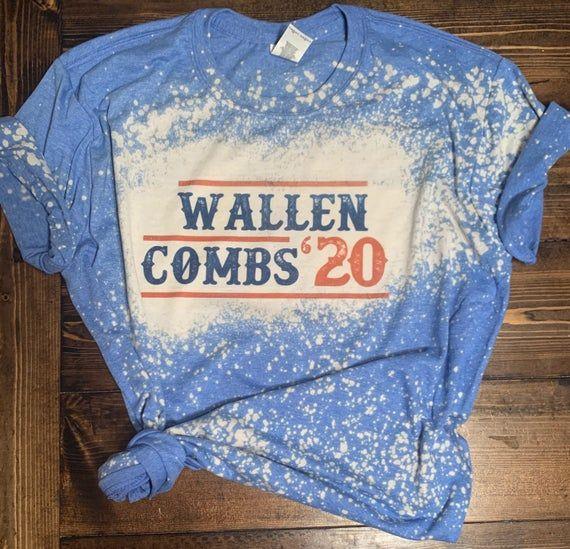 Wallen Combs For President Bleached Shirt 2020 Election Etsy In 2020 Bleach Shirts Bleach T Shirts Bleach Shirt Diy