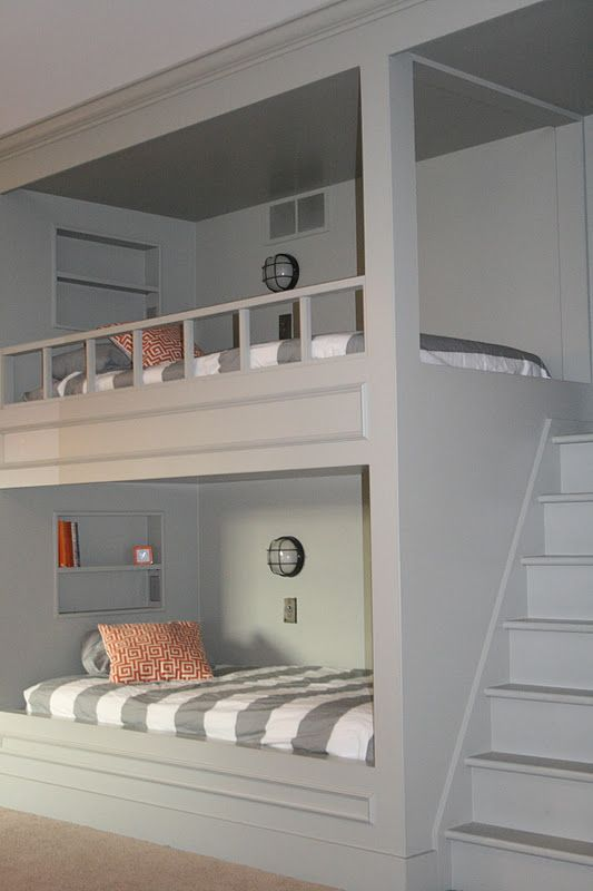 great bunk bedsIdeas, Beach House, Bunk Beds, Kids Room, Kid Rooms, Bedrooms, Guest Rooms, Bunk Room, Bunkbeds