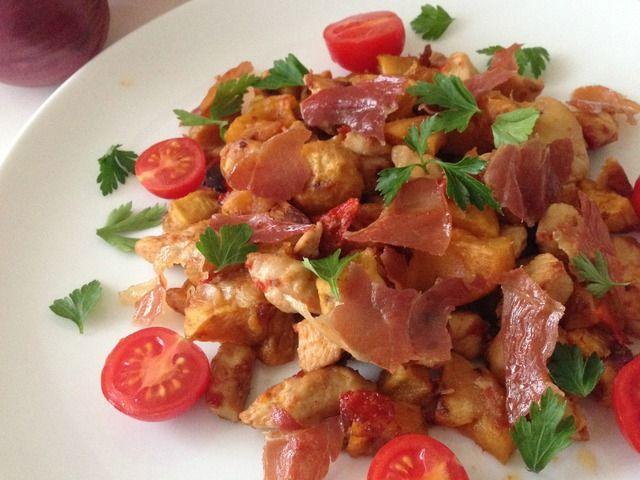 Az én diétás brassóim: csirkemellel, édesburgonyával és sonkachipsszel