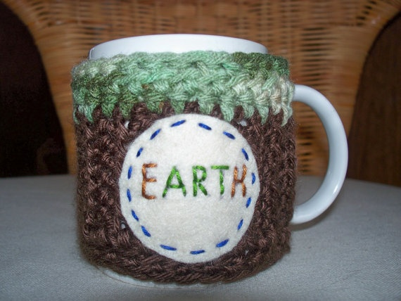 Mug Cozy Coffee Cup Eco Earth by soulybarb on Etsy
