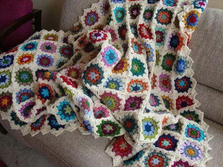 My vintage blanket: the edging