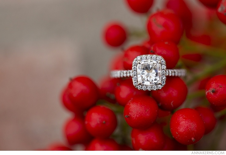 Engagement Ring Winter Berries #christmaswedding | Anna Kerns Photography
