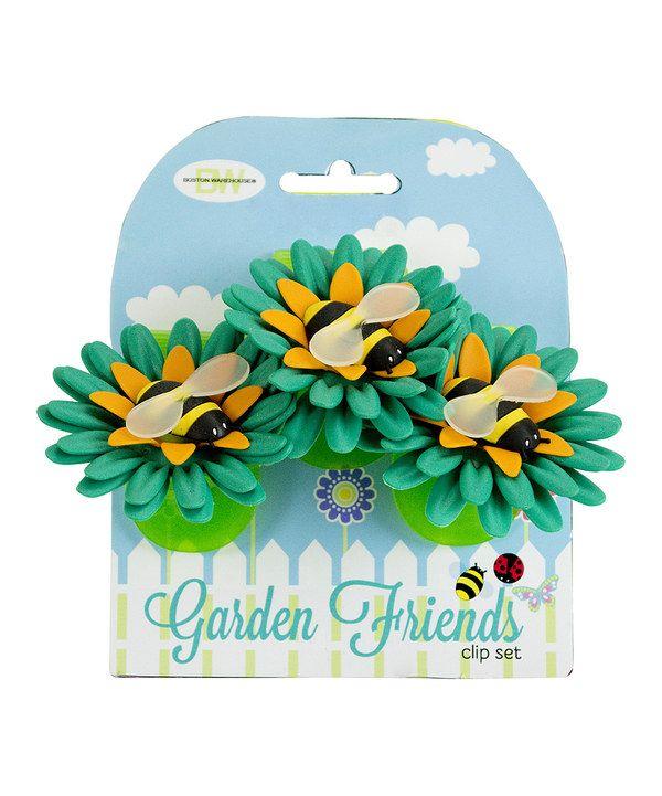Loving this Bee Garden Friends Clip - Set of Three on #zulily! #zulilyfinds