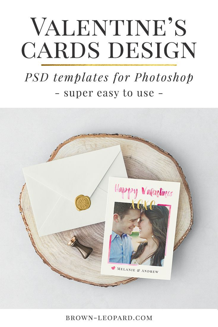 Valentine's Cards for Photoshop, graphic design for Photographers, happy Valentines cards, digital templates,