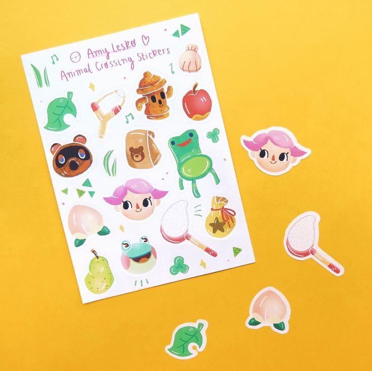 Animal crossing sticker sheet planner stickers cute