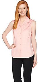 As Is Linea by Louis Dell'Olio Wing Collar Slveless Blouse