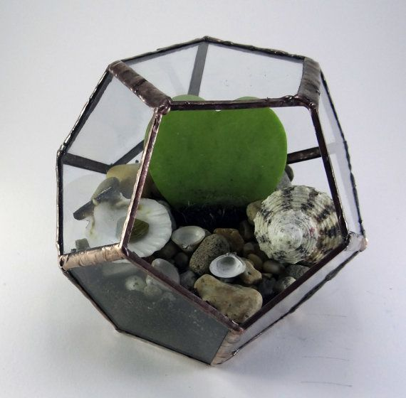Dodecahedron Florarium Terrarium small by KorinArt on Etsy