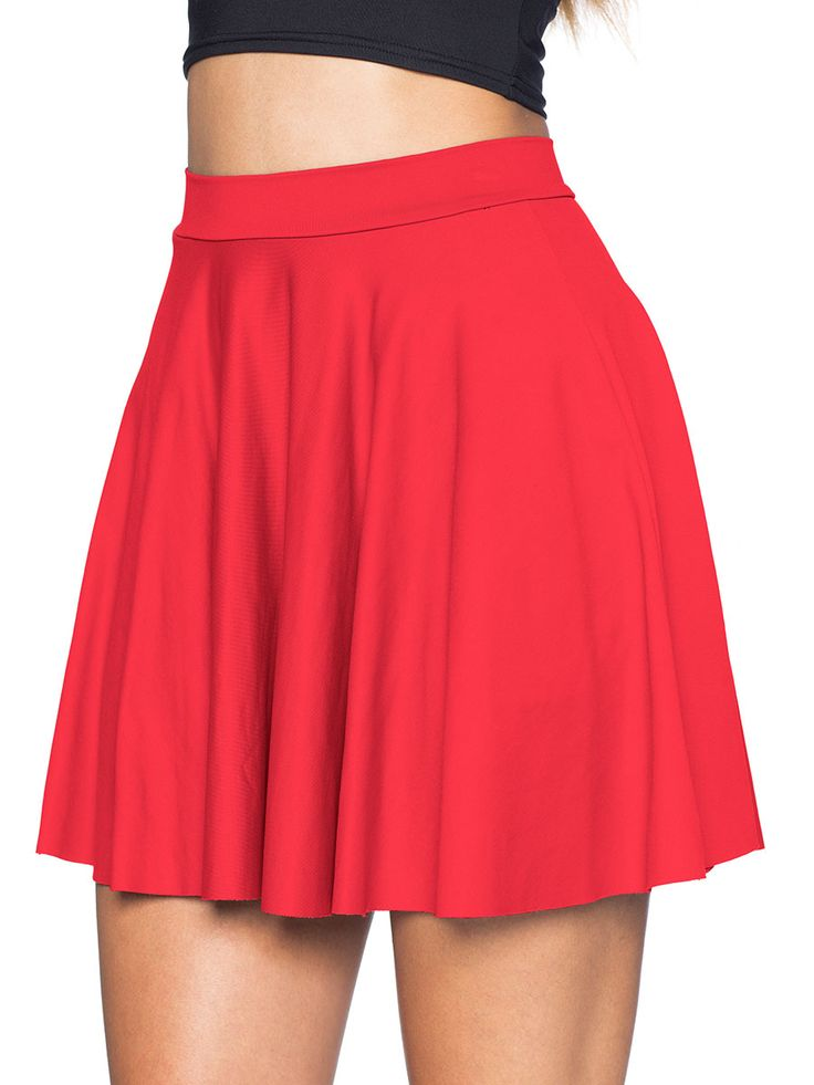 Awesome Red Skater Skirt (AU $60AUD) by Black Milk Clothing