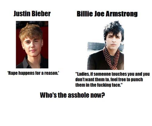 JB is an asshole no joke (douche bag,billie joe armstrong,justin bieber,rape)