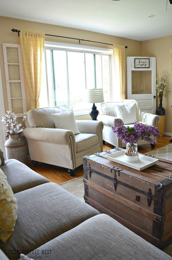 Farmhouse Living Room Summer Refresh Crazy Person