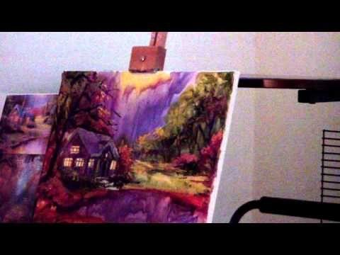 Быстрое рисование – картина «Осенние Сумерки» | МОЙ МИЛЫЙ ДОМ – идеи рукоделия, вязание, декорирование интерьеров