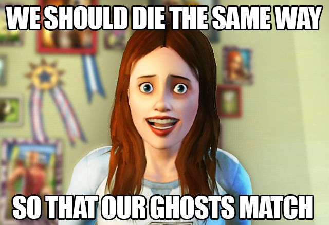Ah yes, different colored ghosts for different ways of death...