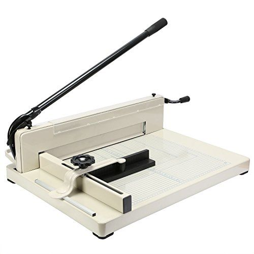 BestEquip Paper Cutter 17 Inch A3 Guillotine Paper Cutter Heavy Duty Steel Guillotine Cutter 400 Sheet Capacity