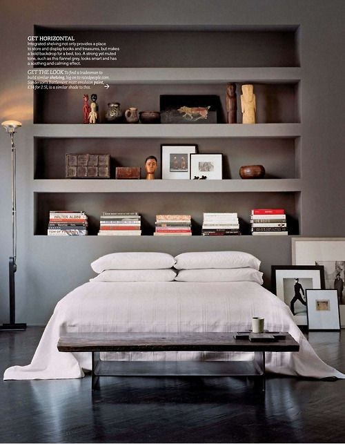 horizontal shelving  Living Etc, Nov 2012