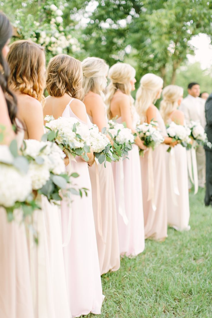 Photography : Mustard Seed Photography | Bridesmaids Dresses : Amsale Nouvelle | Floral Design : Maxit Flower Design Read More on SMP: http://www.stylemepretty.com/2015/09/05/elegant-southern-farm-wedding-in-texas/