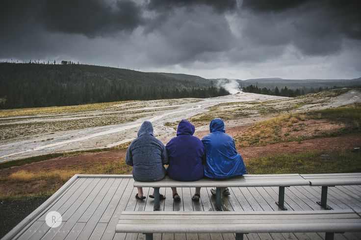 """""""Waiting for the Old Faithful"""" Yellowstone, Wyoming."""