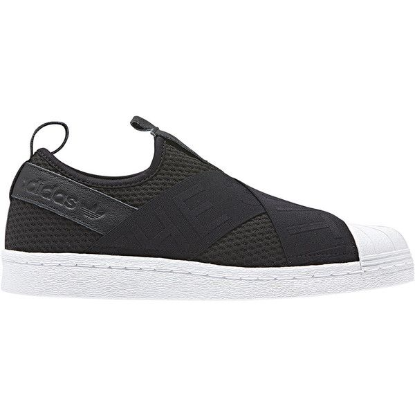 adidas Originals Women's Superstar Slip-On Sneaker (€73) ❤ liked on Polyvore featuring shoes, sneakers, adidas originals shoes, slip on trainers, pull on sneakers, adidas originals and adidas originals trainers