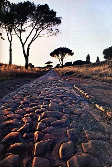Roma Via Appia--- worn in grooves.