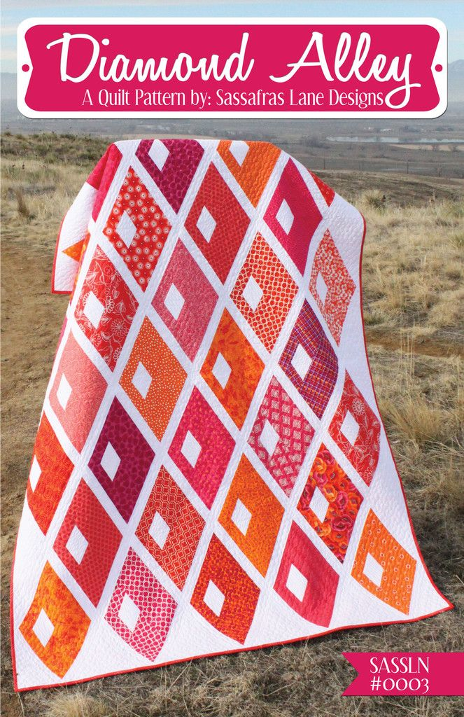 Diamond Alley Quilt Pattern - Sassafras Lane Designs. What a great pattern for large gorgeous fabric ... Gotta get this: