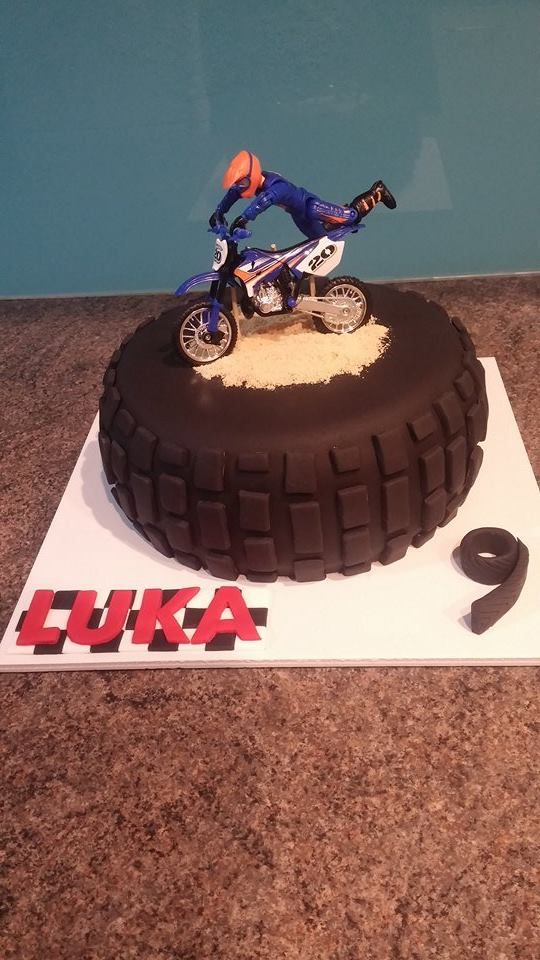 Motocross Tyre Cake - Homemade By Hollie.
