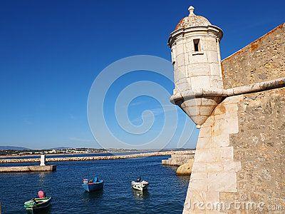 Fortaleza de Ponta de la Bandeira was constructed in the late 1600& x27;s in Lagos, Portugal.