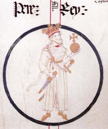 Pedro IV, King of Aragon. Rollo de Poblet