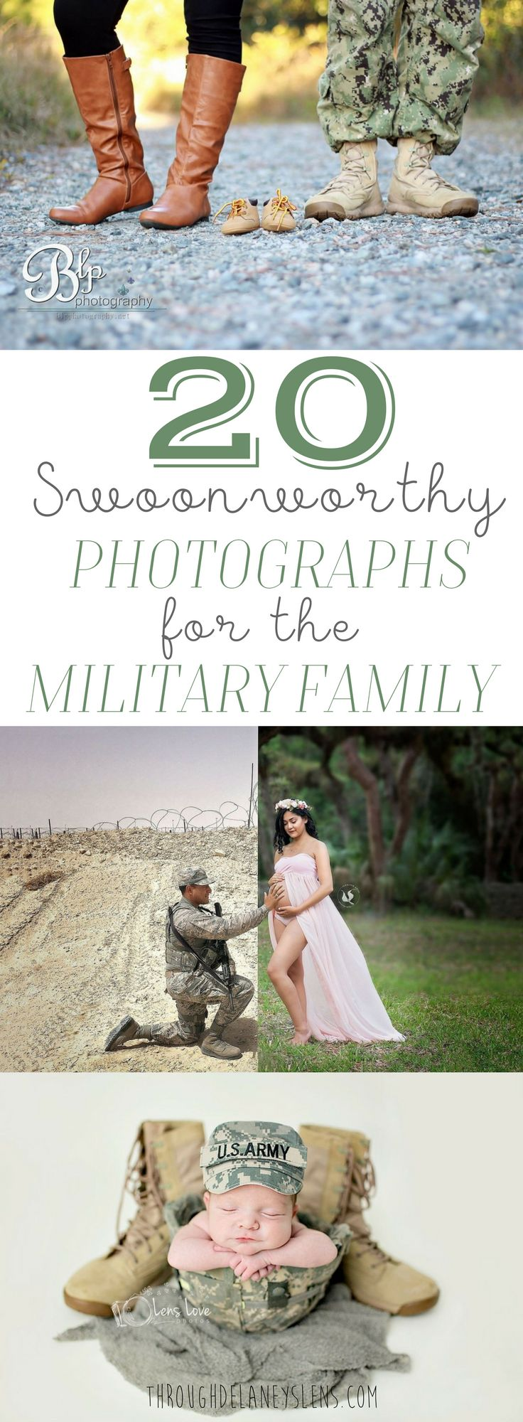 There is something extra special about military photographs, click here to see 20 beautifully themed pregnancy announcement, maternity, + newborn photos