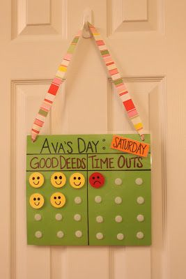 We have tried many discipline techniques with our girls but Time Outs seem to work best.  This chart is great for two reasons: (1) Ava acti...