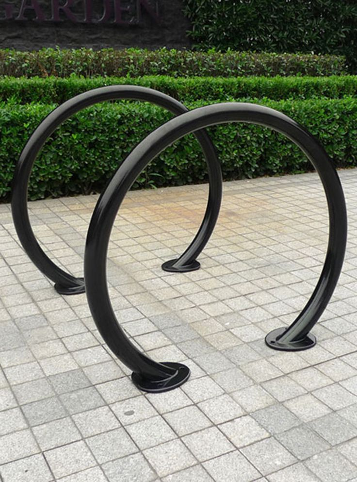 The R-8224 Ring Bike Rack combines attractive design with dependable security.  It provides two-point contact with bike frames for added stability. The design is U-lock compatible, and wide enough for cyclists to lock their frame with both the front and back wheels. To learn more, visit:  http://www.reliance-foundry.com/bike-parking/bike-racks/r-8224-ring-rack