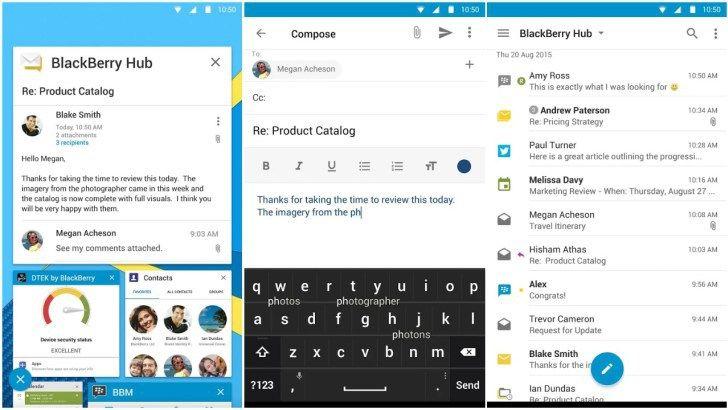 بلاك بيري تجلب حزمة تطبيقات +BlackBerry Hub إلى متجر بلاي