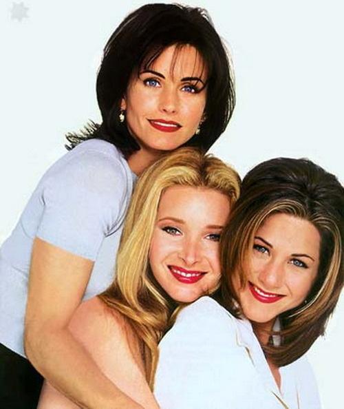 Jennifer Aniston, Lisa Kudrow and Courteney Cox #FRIENDS