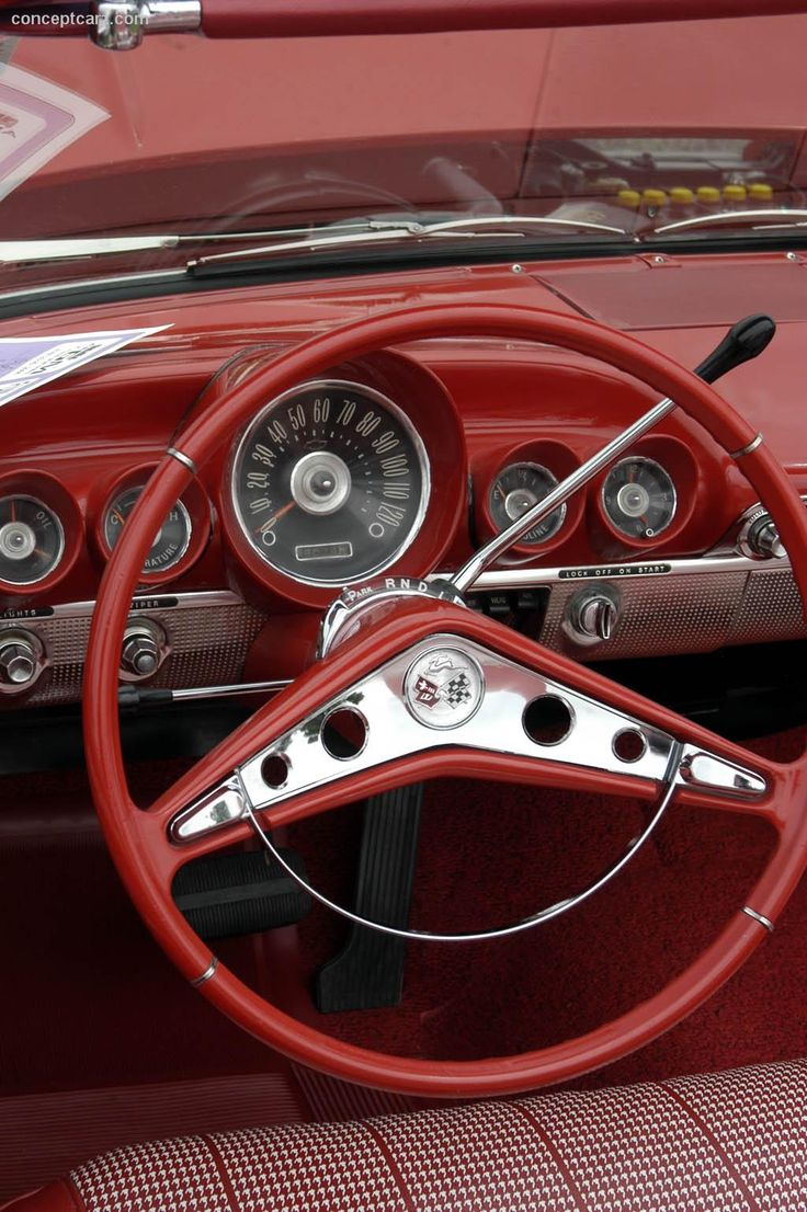 1960 Chevrolet Impala...I love the simplicity of the old dashboards and the thin steering wheels....