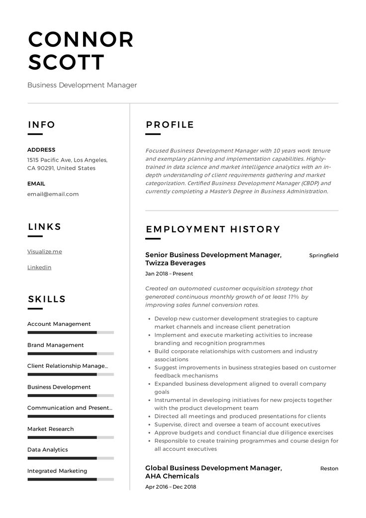 Business development manager resume guide in 2020 with